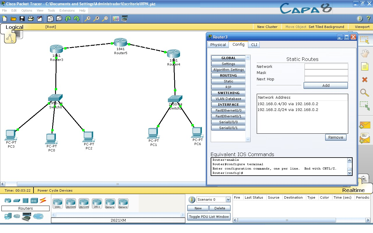 CREAR VPN EN CISCO PACKET TRACER | capa8